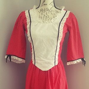 Women's Vintage Peasant Dress